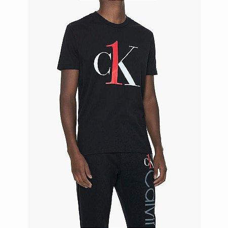 Camiseta gl Careca ck Graphic Logo Loun Preto