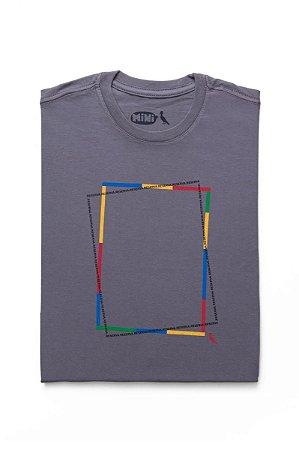 Camiseta Mini Estampa Retangulo Color