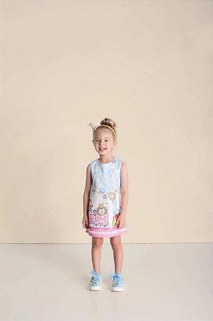 Vestido Infantil Feminino Linha Estampa Circo