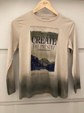 Camiseta Infantil Masculino Calvin Klein Ml