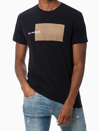 Camiseta mc Ckj Masc Sun And Sand Preto