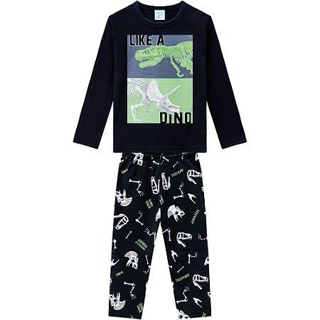Pijama Masculino Preto Kyly