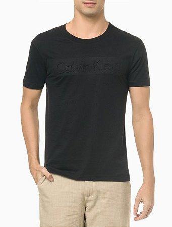 Tshirt  ck Embossing Preto