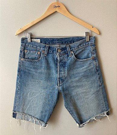 Bermuda Jeans Tamanho Adulto Levi`s Barra Dobrada