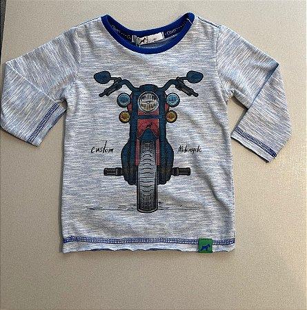 Camiseta Manga Longa Oliver Moto Mescla