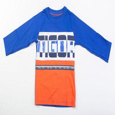 Camiseta Infantil Masculino Tigor t. Tigre Azul