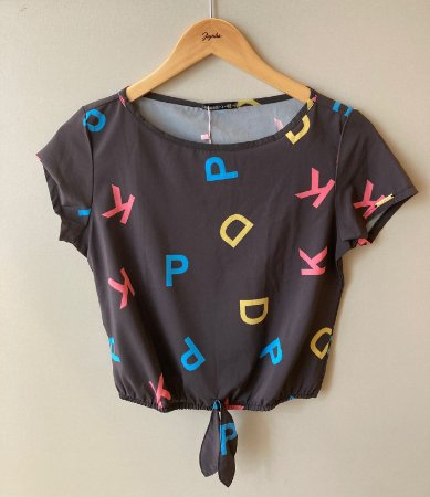 Blusa Cropped Letras