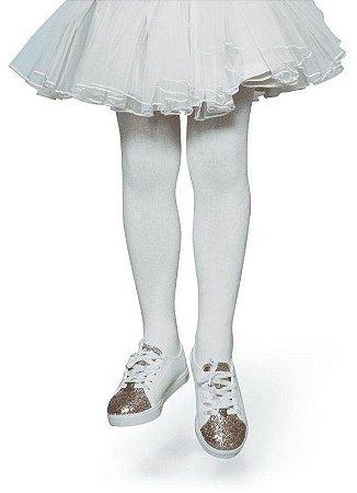 Meia Unissex Calça Infantil Lisa