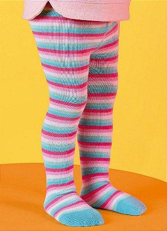 Meia Menina Calça Infantil Colorida