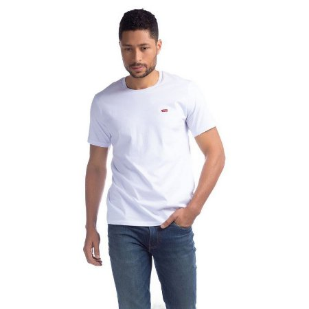 Camiseta Levi`s Adulto Branco Basica