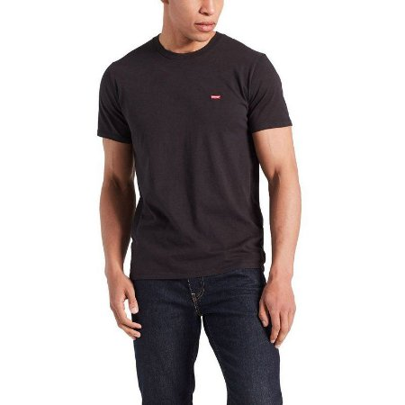 Camiseta Levi`s Adulto Preto Basica