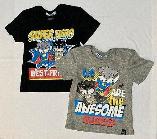 T-shirt em Meia Malha Com Silk Local Super Herois