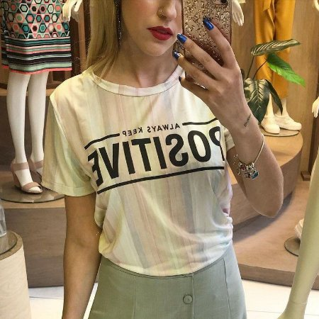 T- Shirt Feminina Adulto Listras