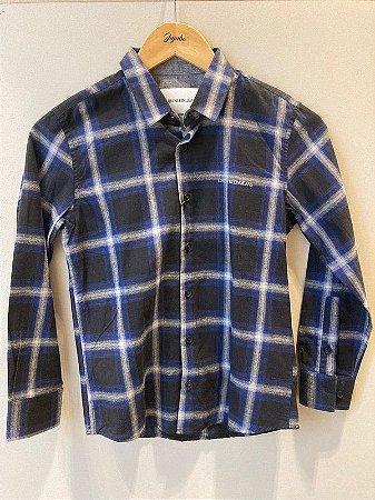 Camisa  Infantil Masculino Tecido em Flanela Calvin Klein