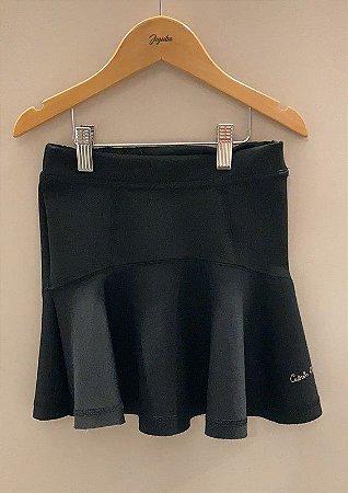 Saia Calvin Klein Jeans Preta Prega