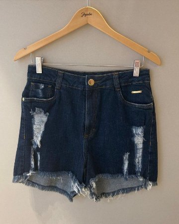 Shorts Escuro Desfiado