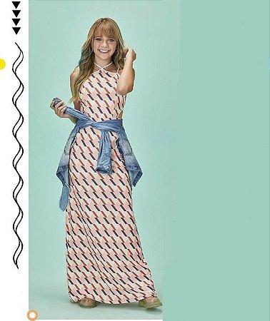 Vestido Longo Tons Pasteis