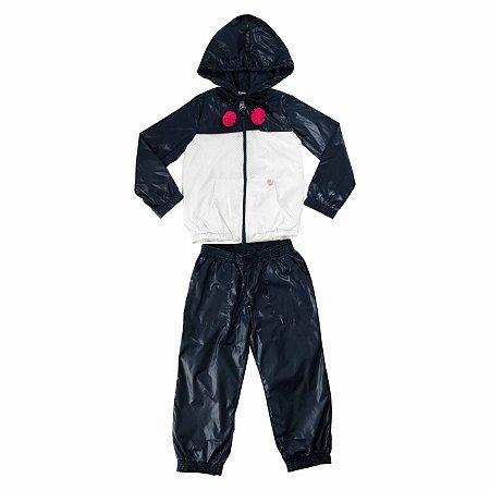 Conjunto Infantil Feminino Jaqueta e Calça Jogger em Tecido Tecnologico