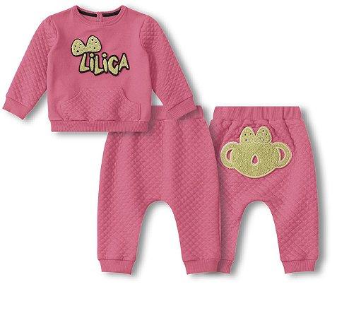 Conjunto Lilica Ripilica Rosa Bebê Menina