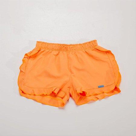 Shorts Com Babado Nas Laterais