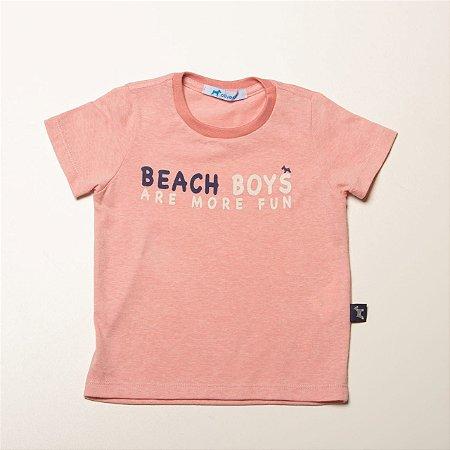 Camiseta Infantil Mascilina Silk Frases