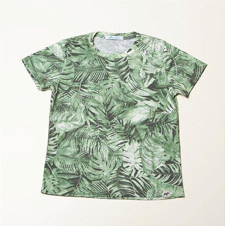 T-Shirt Estampa Folhagem