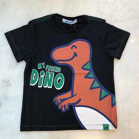 Camiseta Mini com Silk Dino