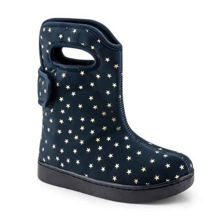 Bota Infantil Bibi Urban Boots Feminino Azul Com Estampa de Estrela