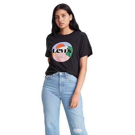 Camiseta Feminina Manga Curta Adulto Levi`s