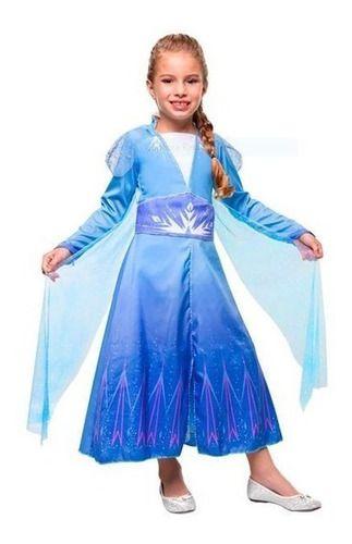 Fantasia Elsa Luxo Frozen 2 Infantil Disney Vestido Original