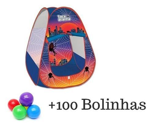Toca Aranha Barraca Menino Spider Com 100 Bolinhas Coloridas