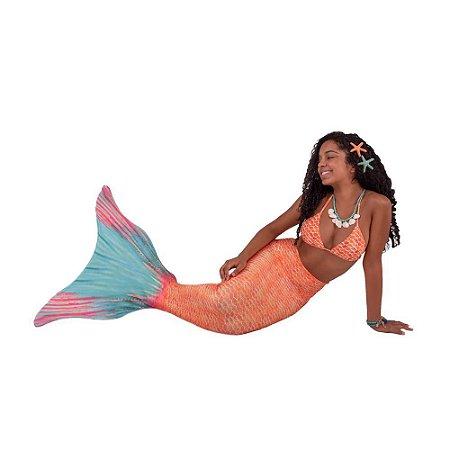 Cauda De Sereia C/ Nadadeira E Sapatinho Neoprene Calda Luisa