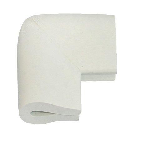 Cantoneira Mesa Vidro Protetor Quina Canto Bebê C/4un Espuma Branco Gelo