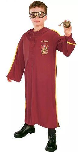 Fantasia Harry Potter Quadribol Com Pomo De Ouro E Óculos