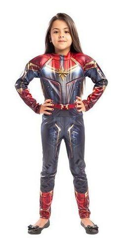 Fantasia Capitã Marvel Longa Infantil Vingadores 4 Ultimato