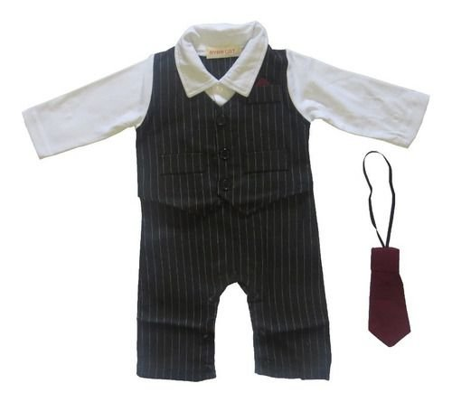 Macacao Social Camisa Colete Gravata Vermelha Calca Bebe Lux