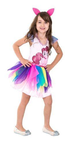 Fantasia Pinkie Pie Pink Pai Infantil My Little Pony Class