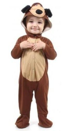 Fantasia O Urso Masha Bebê C Capuz Marsha Infantil Baby Orig