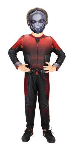 Fantasia Homem Formiga Ant Man Infantil Máscara Original