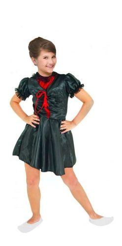 Fantasia Monica Bruxinha Turma Bruxa Infantil Vestido Preto