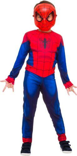 Fantasia Homem Aranha Longa Clássica Spiderman Máscara Filme