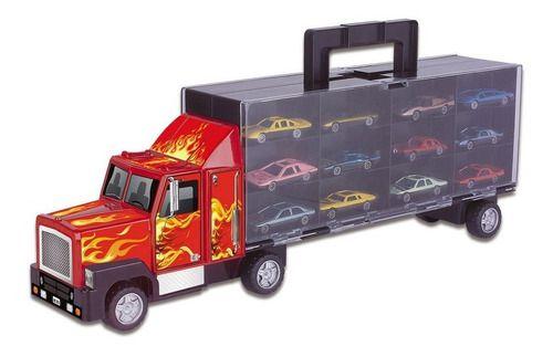 Carreta C/12 Carrinhos Infantil Caminhão Cegonha Criança