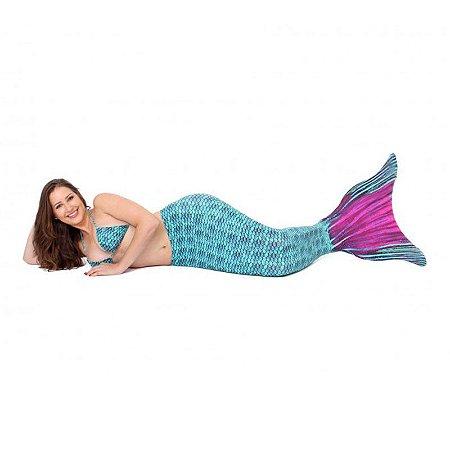 Cauda De Sereia C/ Nadadeira E Sapatinho Neoprene Calda Tais