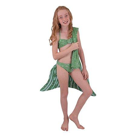 Cauda De Sereia C/ Nadadeira E Sapatinho Neoprene Calda Bianca