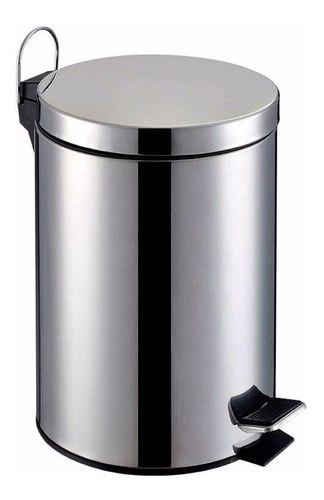 Lixeira Aco Inox Cesto De Lixo Removivel 5 Litros C/ Pedal