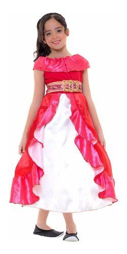 Fantasia Elena De Avalor Disney Vestido Princesa Infantil