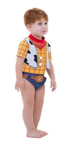 Fantasia Body Woody Baby Cowboy Bebe Curta Toy Story