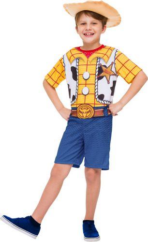 Fantasia Woody Curta Cowboy Toy Story 3 Com Infantil Chapeu