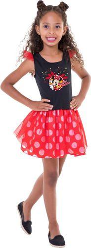 Fantasia Minnie Mouse Disney Vestido Infantil