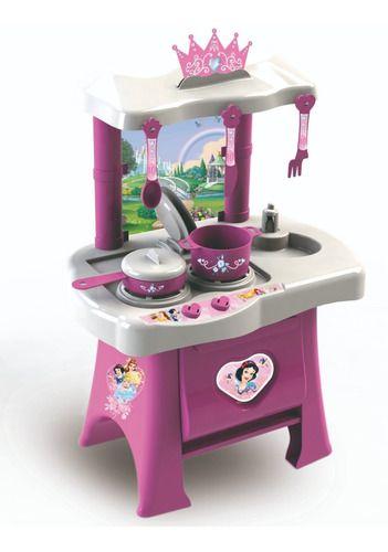 Cozinha Infantil Princesas Disney Fogão Forno Pia Panelinhas
